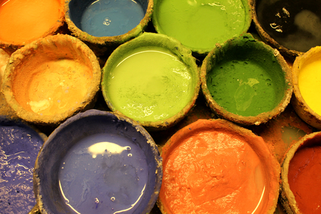 diferent: Diferent colors for painting