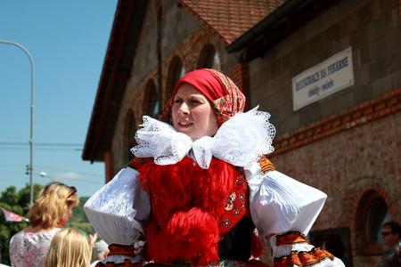 czech women: Folklore Festival Ride of Kings Vl?nov in South Moravia, Czech Republic 25th May 2016