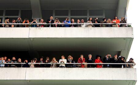 steeplechase: People watching horseracing in Pardubice, Czech Republic steeplechase