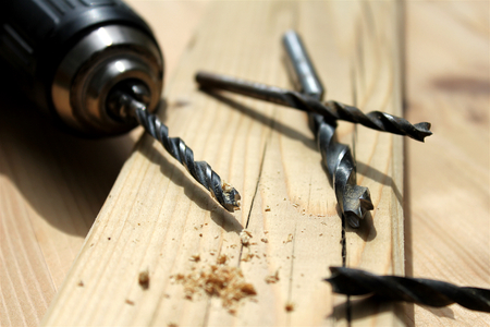 drills: Close-up with woodworking drills