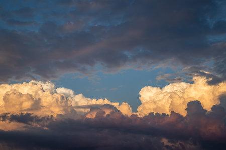 Beautiful cumulonimbus during sunset. Stok Fotoğraf
