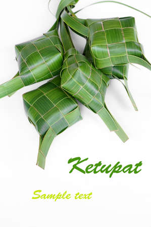 A Bunch of Ketupats, a traditional food in Malaysia for celebration photo