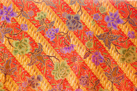 batik textuur gemaakt in Maleisië Stockfoto