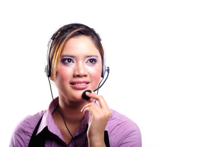 pretty contact centre girl photo