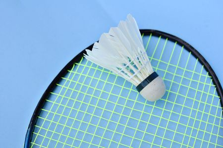racket and shuttercock - natural light Stock Photo - 6911145