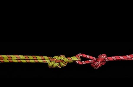 twisted rope isolated on black background  Stock Photo - 8321184