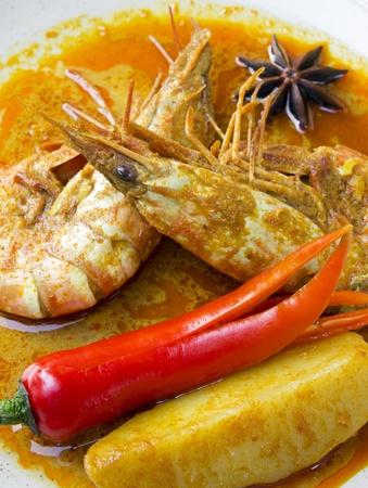 Delicious prawn curry  Stock Photo