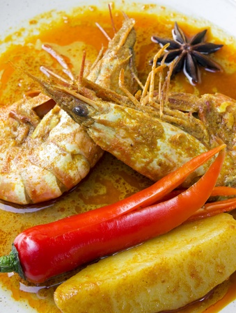 Delicious prawn curry  photo