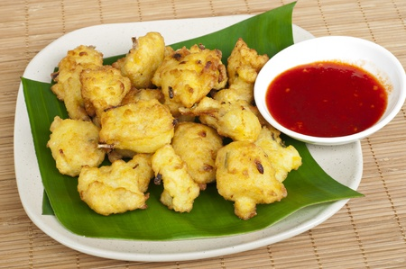 close up of Cekodok , Cucur or Jemput-jemput  Malaysian traditional food  Stock Photo