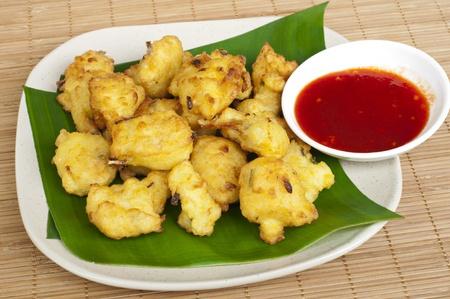 close up of Cekodok , Cucur or Jemput-jemput  Malaysian traditional food  Stock Photo