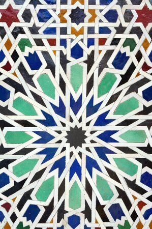 colorful moroccan mosaic wall as a nice background
