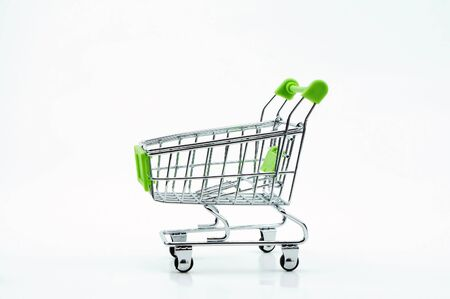 the empty shopping cart isolated on white background