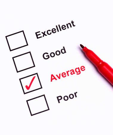 average: Mark Average on performance evaluation