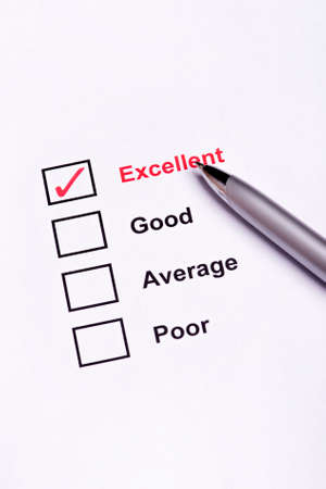 excellent: Mark Excellent on performance evaluation