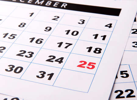 important date: Important date of calendar with red color Stock Photo
