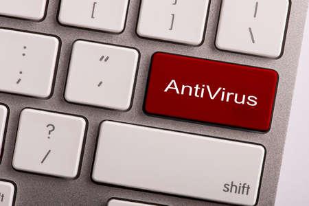 anti virus: keyboard button with word anti virus Stock Photo