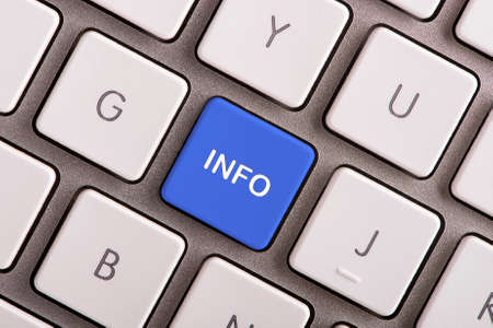 info button: Info button on white computer keyboard Stock Photo