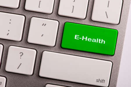 keyboard button with word e-health Stock Photo