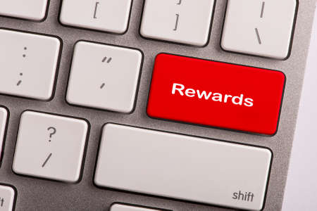 eminence: keyboard button with word Rewards Stock Photo