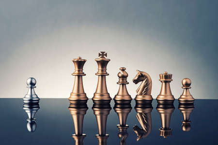 chess queen: Leadership Concept of chess