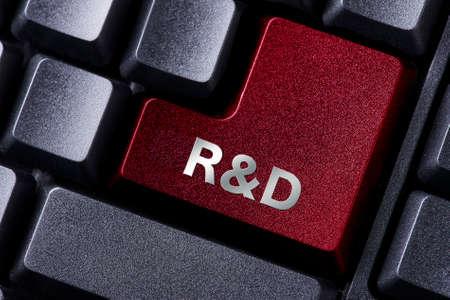 rd: close up red enter button written RD Stock Photo