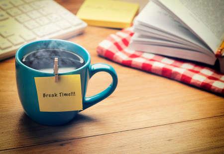 Bureau Break Time Concept