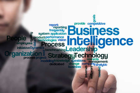 Executive touch virtual screen business intelligence