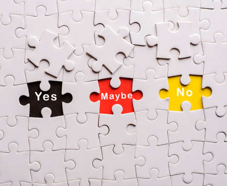 yes no: yes, no,maybe in missing pieces of jigsaw