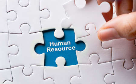 resource: Puzzle with word human resource Stock Photo