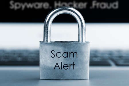 computer security concept- Scam Alert Stock Photo