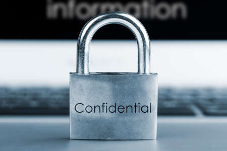 computer security concept- Information Confidential