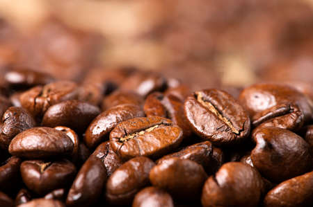 black roasted arabica coffee beans