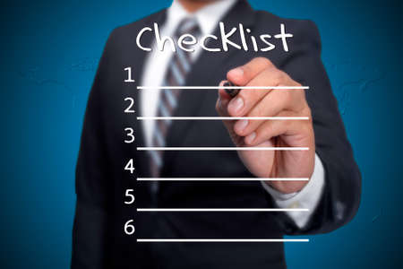 school exam: Checklist,Executive as a background Stock Photo
