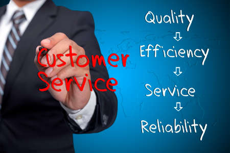 cause marketing: Executive write customer service related words