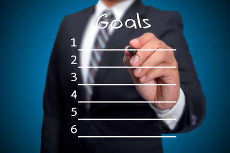 prepare: Business Man prepare goals list