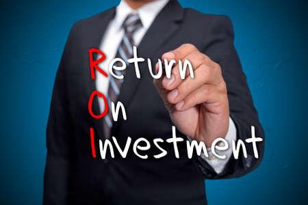 acronym: ROI acronym, Executive writing as a background Stock Photo