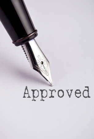 homeownership: Approved with pen written on paper Stock Photo