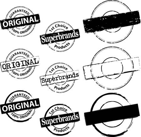 Rubber Stamp original et Superbrand