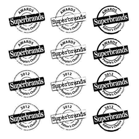 SuperBrands rubber stamps-SuperBrands Awards Vector