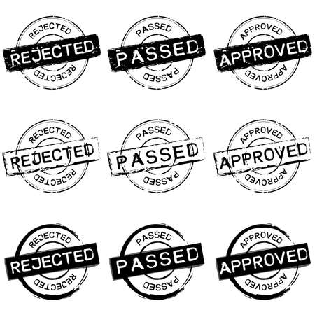 passed: Rubber Stamp Approval Illustration