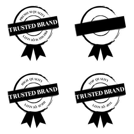 Rubber Stamp Trusted Brand Vector
