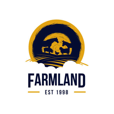 Livestock Farm Land Logo