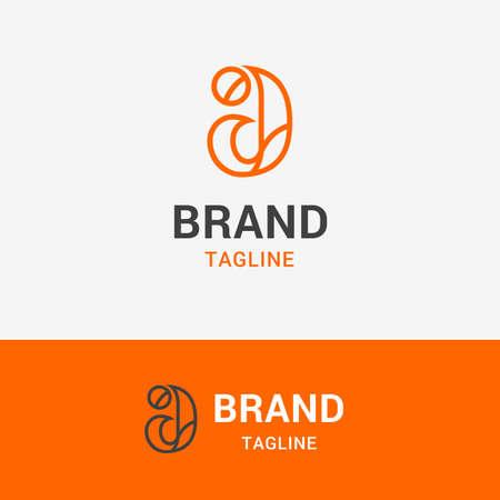 レター A ライン シンプルなロゴと布ブランドに適したオレンジ色