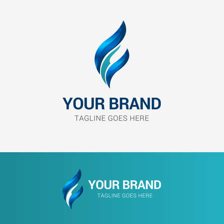 Abstract Flame Finance Logo Illustration