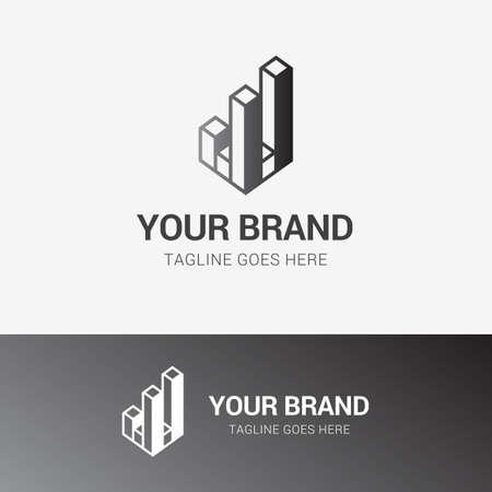 Modern Real Estate Logo template element symbol in grey color