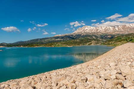 Gombe, Kas - Antalya / Turkey. Seki Plateau, Gombe Mountain and Barrage.