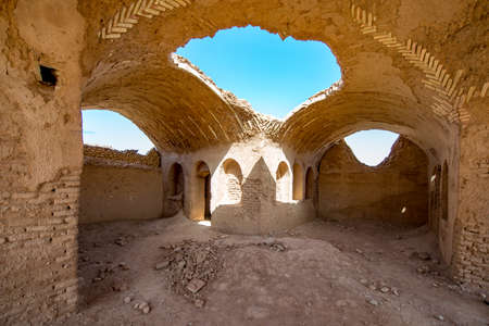 The Temple of Silence in Yazd, Iran. With its winding lanes, forest of badgers, mud-brick houses and delightful places to stay, Yezd is a 'don't miss' destination. Фото со стока