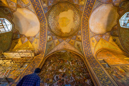 Esfehan - Iran. April 21. 2017. Kakh-e Chehel Sotun.Palace in Isfahan. Built as a pleasure pavilion and reception hall, using the Achaemenid-inspired talar (columnar porch) style.