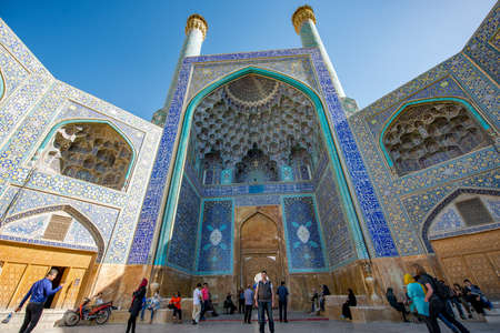 Iran's World Heritage, Imam Mosque, in Esfahan, Iran. Imam Mosque at Naqhsh-e Jahan Square in Isfahan, Iran. Imam mosque is known as Shah Mosque. Its construction finished in 1629. Editorial