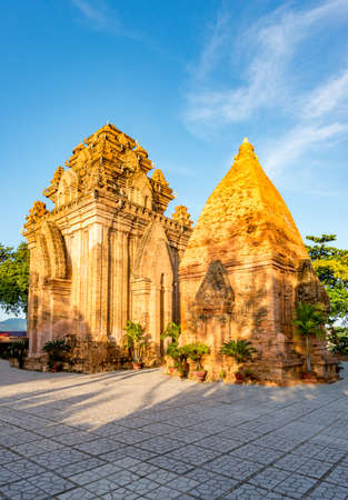 Nha Trang - Vietnam. December 13, 2015. Po Nagar Cham Towers Top choice buddhist temple in Nha Trang.Built between the 7th and 12th centuries, these impressive Cham towers are still actively used for 에디토리얼